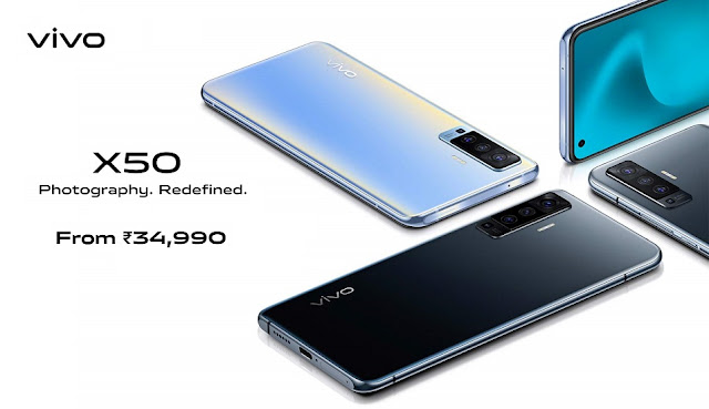 Vivo X50 & 50 Pro Launched With 6.56inch FHD + AMOLED Display, 8GB RAM, 4300mAh Battery & More