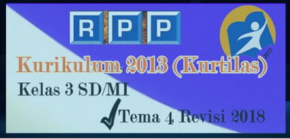 RPP Kelas 3 SD/MI Tema 4 K13 Edisi Revisi Terbaru