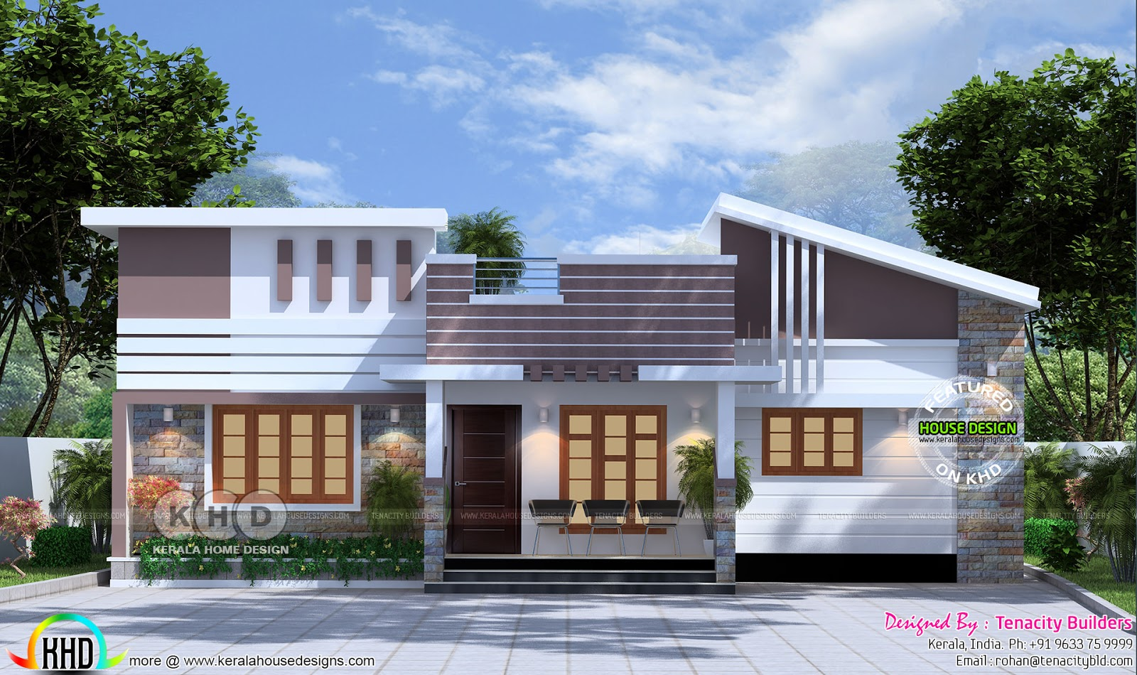 low cost double floor home plan kerala