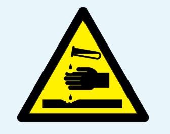 Aşındırıcı (Korozif) Maddeler Temel Uyarı İşareti