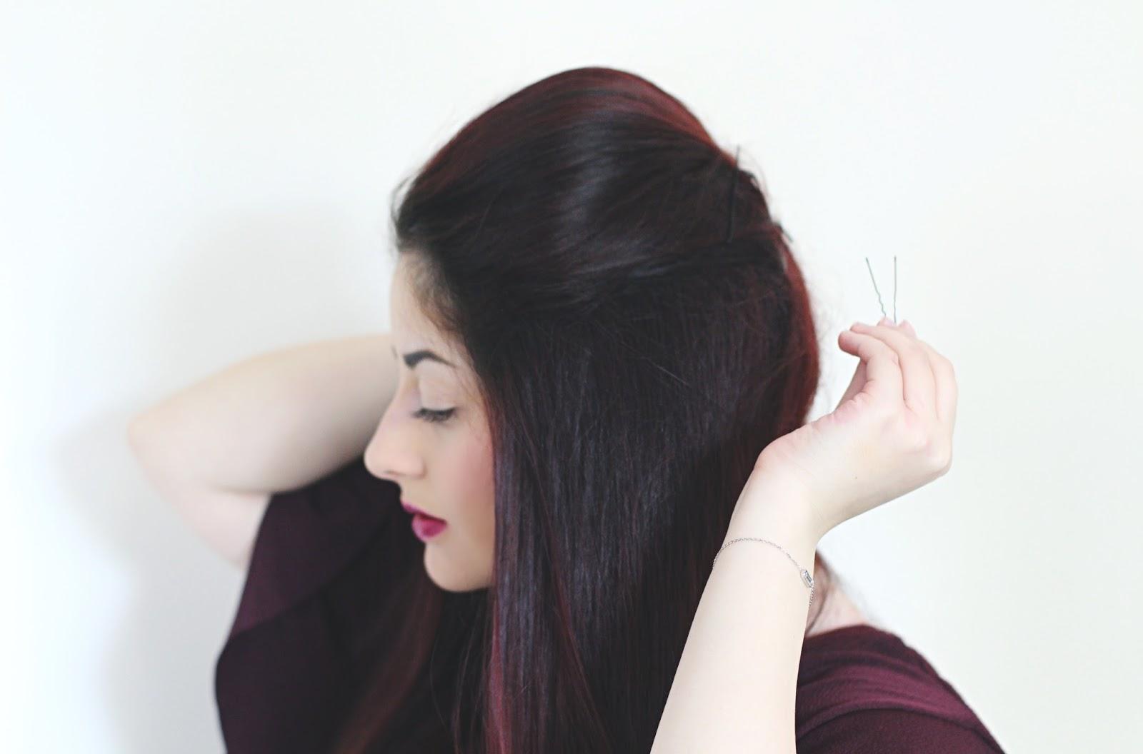 tuto coiffure coque
