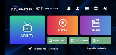 تطبيق IPTV Smarters Pro لمشاهدة القنوات المشفرة و المفتوحة بالمجان