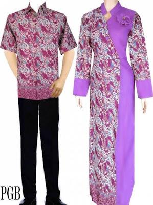 Model Gamis Batik Kombinasi Satin terbaru