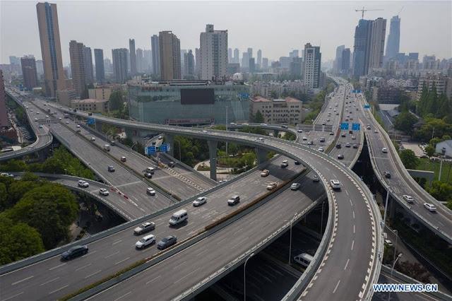 The aerial photo was taken on April 16, 2020. PHOTO | Ke Hao/Xinhua