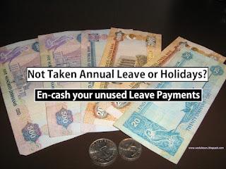 UAE Unused annual leave payment law in uae