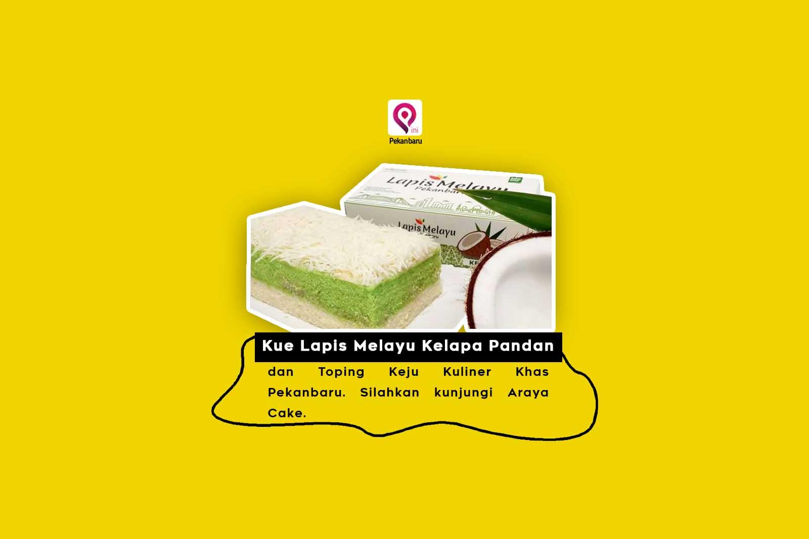 Kue Lapis Melayu Kelapa Pandan dan Toping Keju Kuliner Khas Pekanbaru