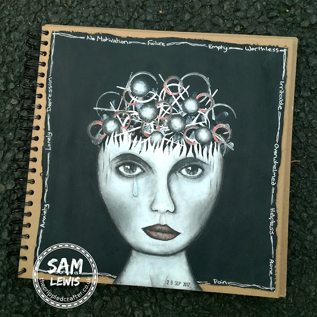 Art journaling at times of crisis, by Sam Lewis AKA The Crippled Crafter
