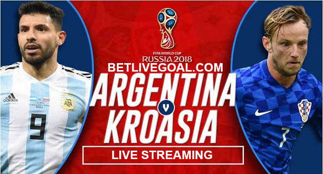 live streaming argentina vs vs croatia 22 juni 2018