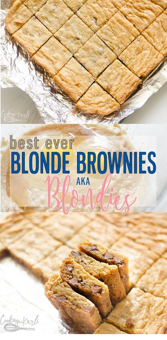 Blonde Brownie Recipe
