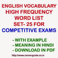 English Vocabulary Important and High Frequency English