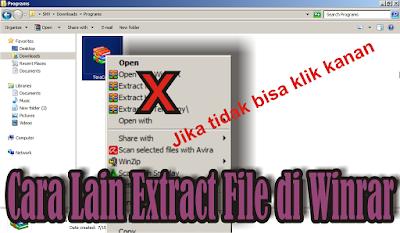 cara extract file rar