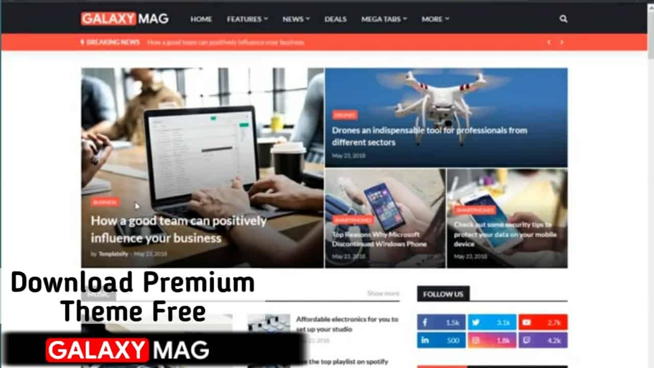 GalaxyMag - Responsive News & Magazine Blogger Template | Colorlibo