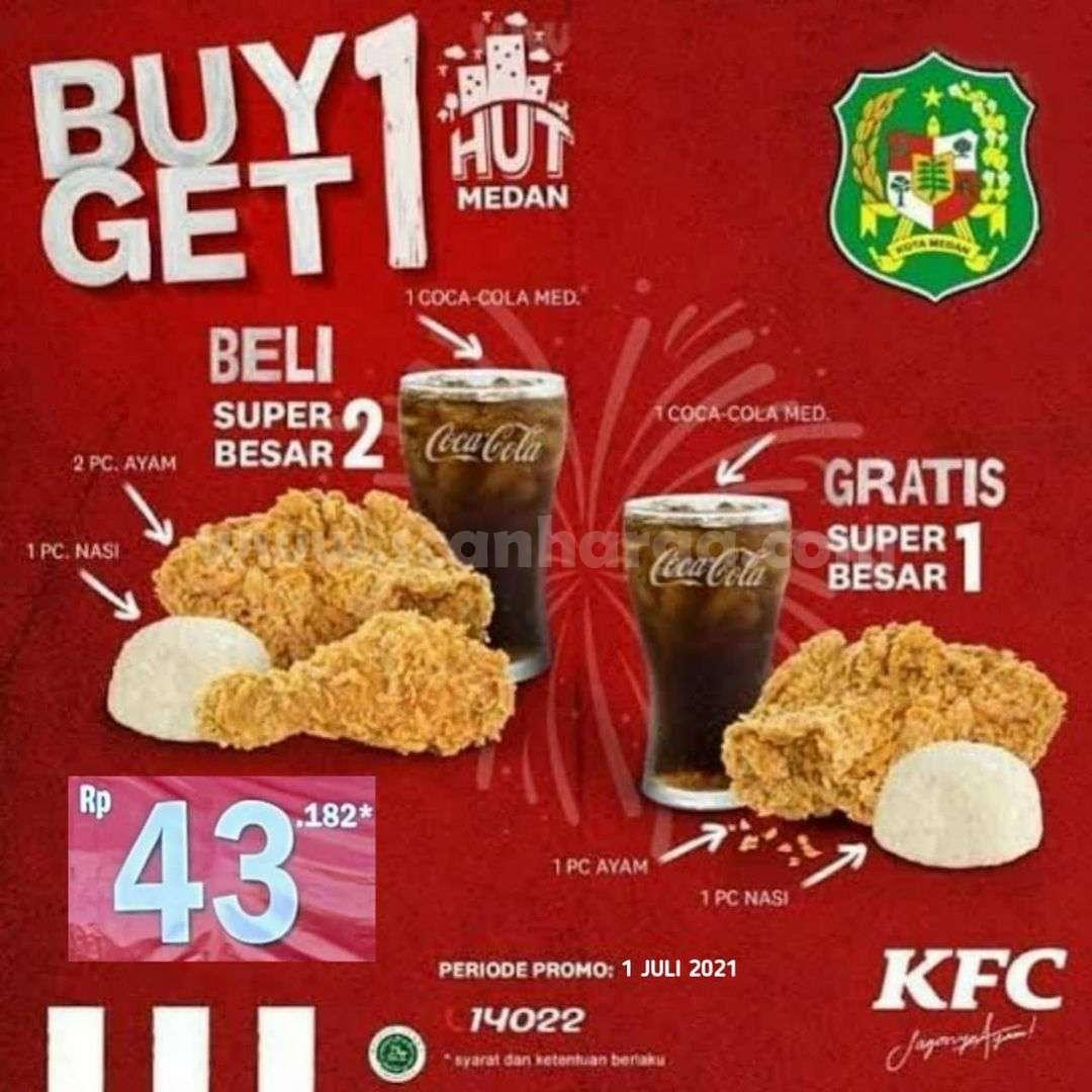 KFC Promo HUT Medan Beli 1 Gratis 1 Hanya Hari Ini