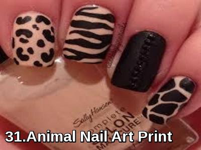Animal Nail Art Print