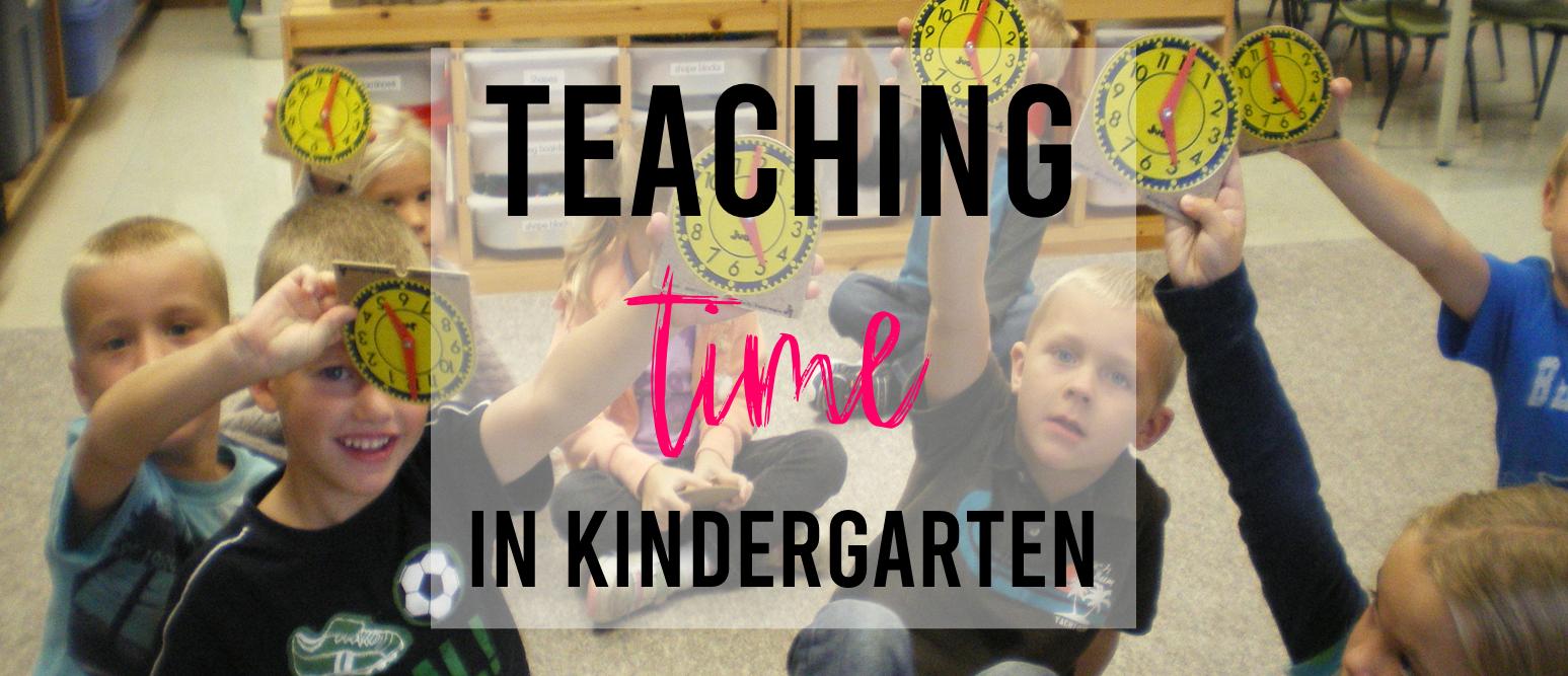 Teaching time math activities in Kindergarten