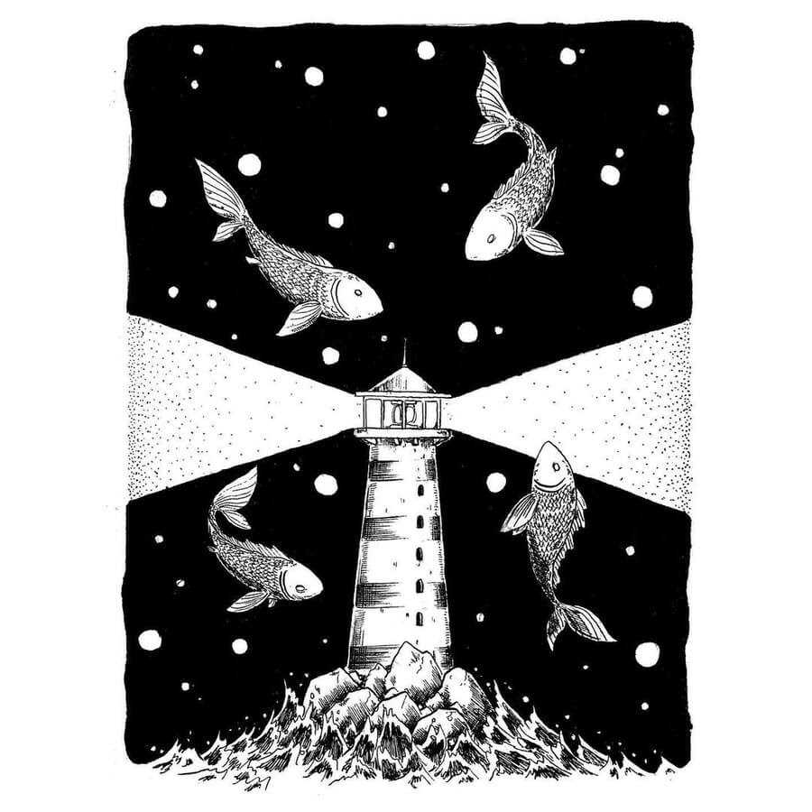 08-Fish-and-the-lighthouse-Rudoi-www-designstack-co