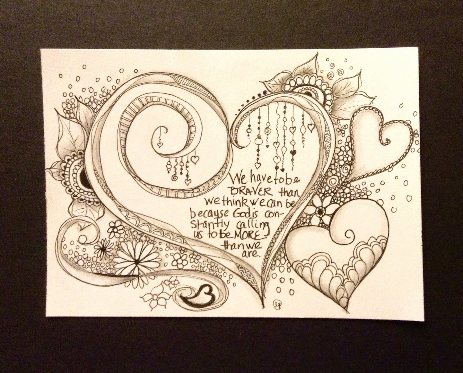 Hearts In Zentangle Style Stock Vector - Image: 65979218 |Zentangle Heart Graphics