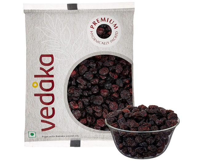 Vedaka Premium Whole Dried Cranberries, 200g