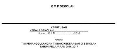 Download Contoh SK Sekolah Aman untuk Pengisian Dapodik Terbaru