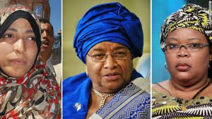 Three women jointly receive Nobel Peace Prize 2011