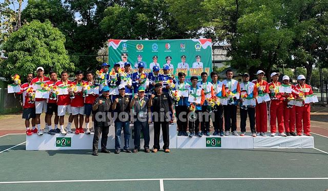 Tenis Porprov Jatim VI: Kalahkan Kota Kediri, Kabupaten Sampang Raih Emas Beregu Putra