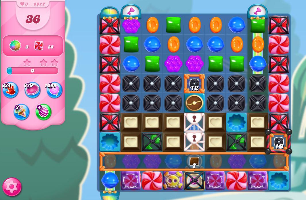 Candy Crush Saga level 8922