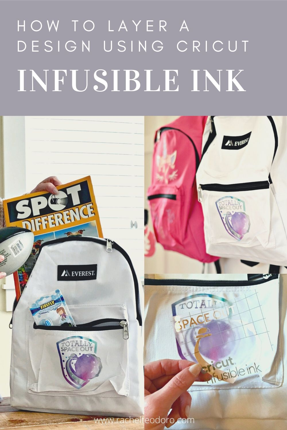 layering a design with infusible ink for Cricut