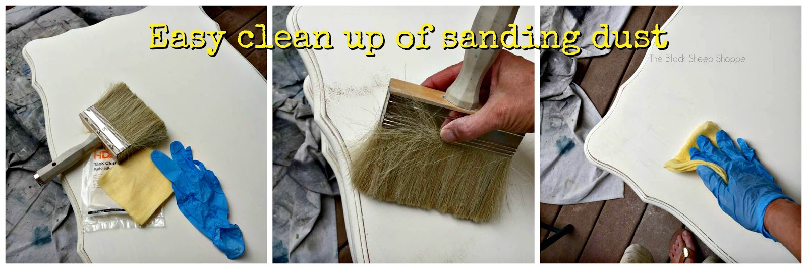 Easy clean up of sanding dust.
