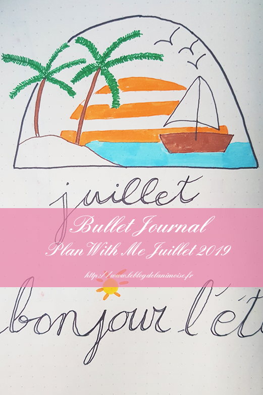 Bullet Journal Plan With Me Juillet Blog Nimoise Nimes 01