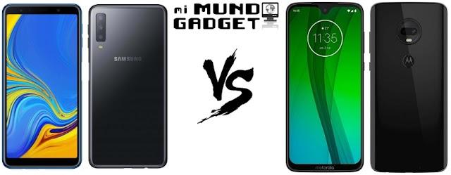 ▷Samsung Galaxy A7 vs Moto G7, sus similitudes y diferencias a fondo