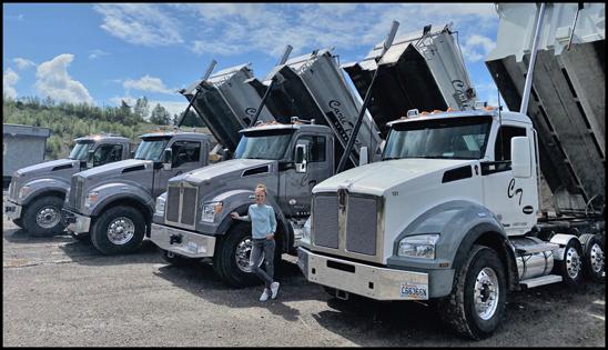 Chelsy Looker, owner of Carli  Trucking Kenworth T880S Dump Trucks