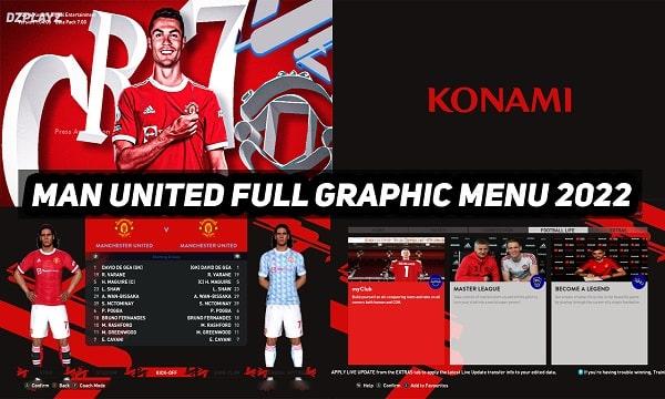 PES 2017 Mod Graphic Menu Manchester United 2022