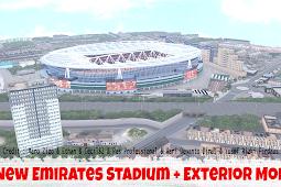 Pes 2017 - New Emirates Stadium With Exterior Mod 2020 By Maro Zizo