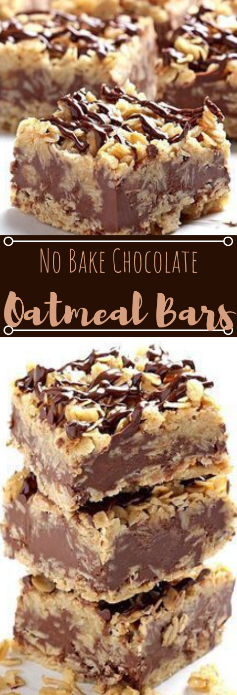 No Bake Chocolate Oatmeal Bars #desserts #chocolate #bars #pumpkin #easy
