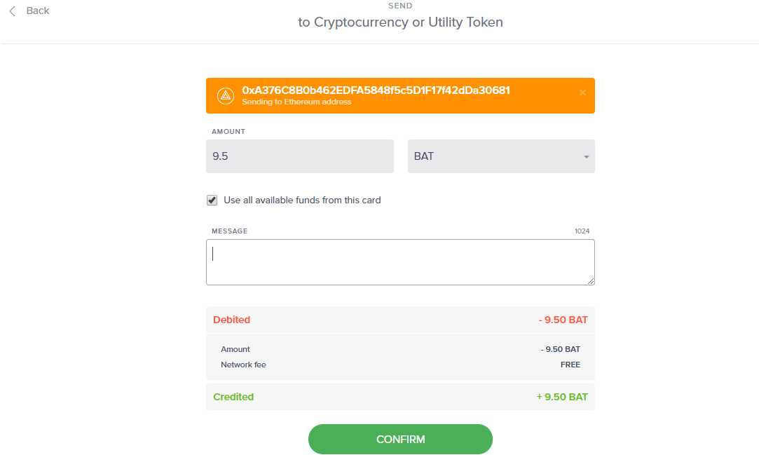 Cara Withdraw BAT dari Uphold Wallet