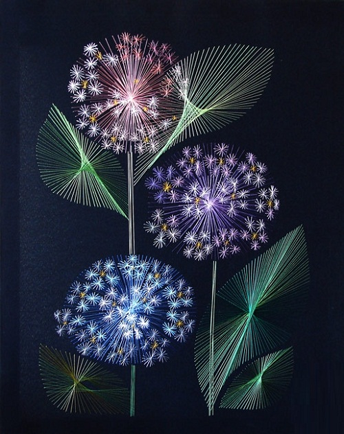 amazing string art by Olga Voronova
