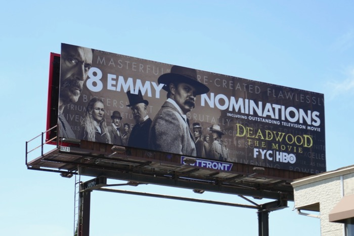 Deadwood Movie Emmy nominee billboard