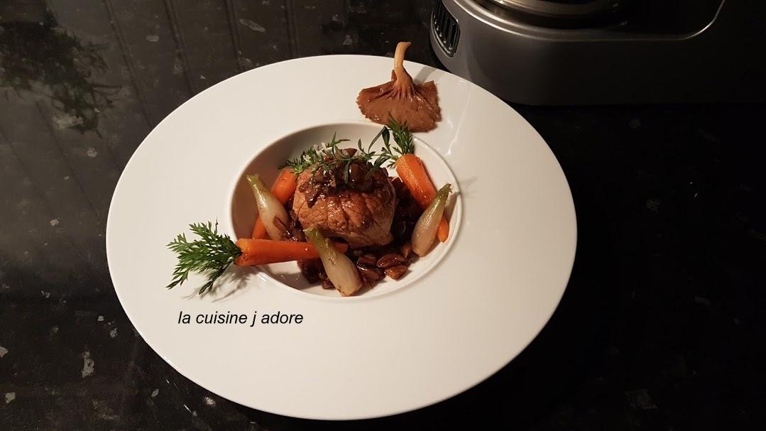 La cuisine j adore paupiette de veau farcie et petits - Cuisine paupiette de veau ...