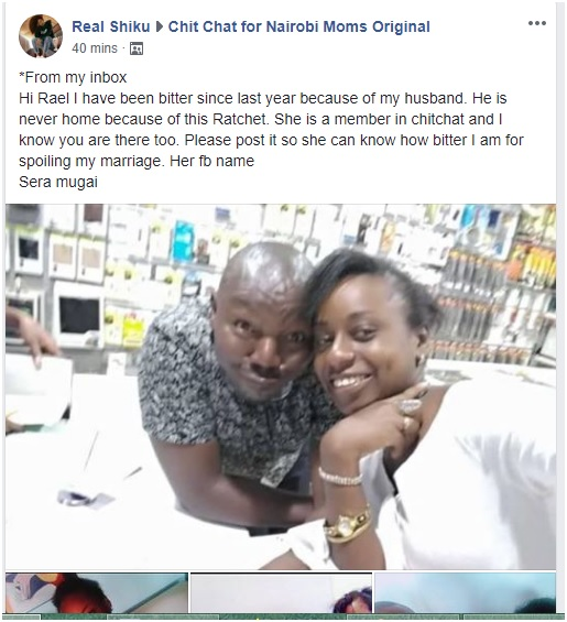 2 - SERA MUGAI, tafadhali funga duka, stop wrecking marriages, WOMAN embarrasses husband's mpango wa kando (PHOTOs)