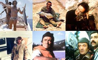 Imagen que muestra 6 cuadros con diferentes momentos de la serie El hombre y la tierra