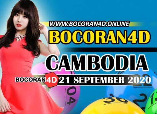Bocoran 4D Cambodia 21 September 2020