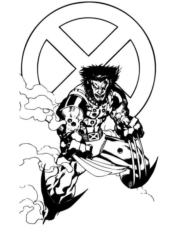 coloring pages for kids free images wolverine logan free