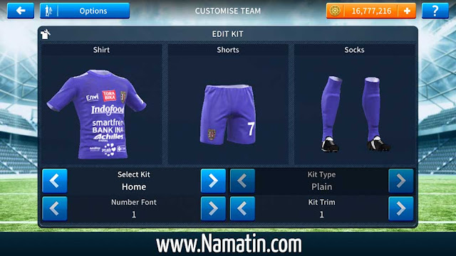 Link Kostum Dream League Soccer Bali United