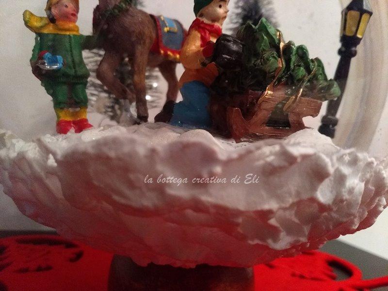 decorazione con pasta di neve