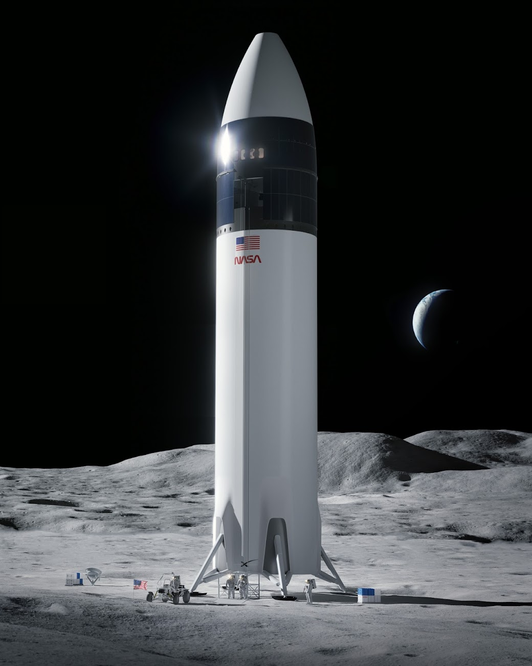 SpaceX Lunar Starship selected by NASA for Artemis program (v.2021)