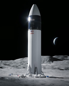 SpaceX Lunar Starship on the Moon
