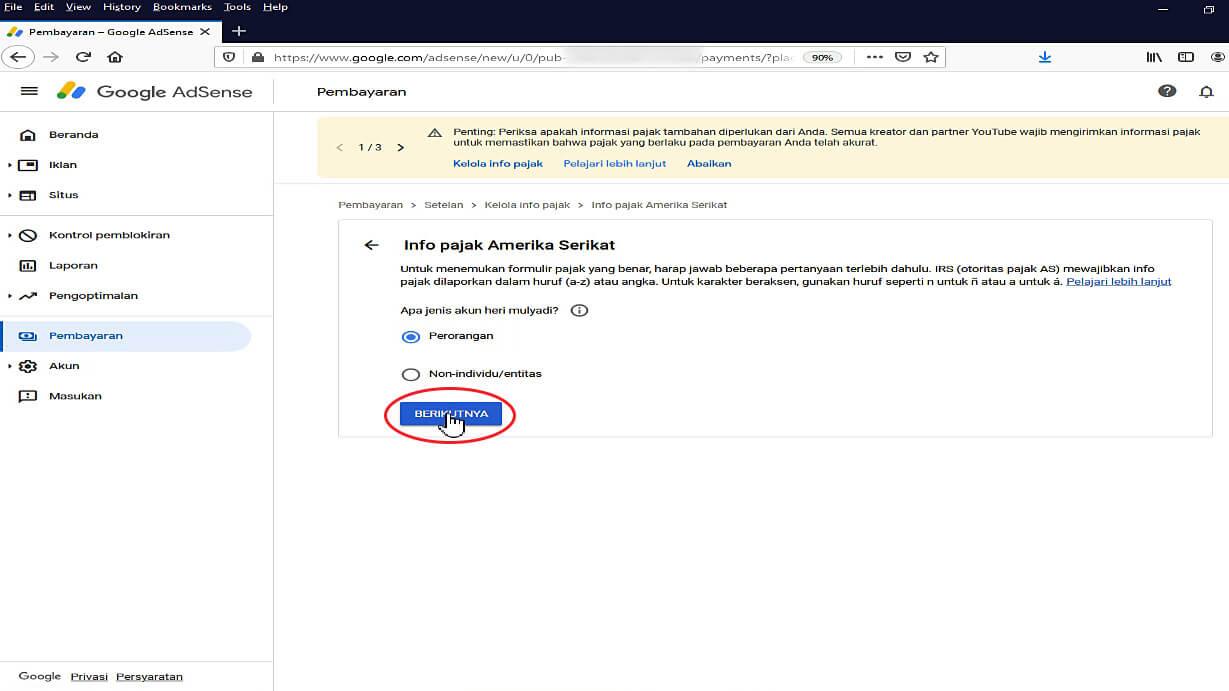 Mengirimkan Informasi Pajak ke Google 6