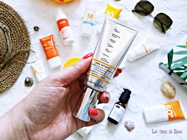 Prevage City Smart  Elizabeth Arden Protección Solar Facial antiaging antienvejecimiento sunprotect beauty salud belleza antiedad manchas