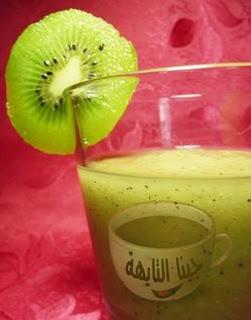 عصير التفاح والكيوى للشيف خالد على بالصور والخطوات
