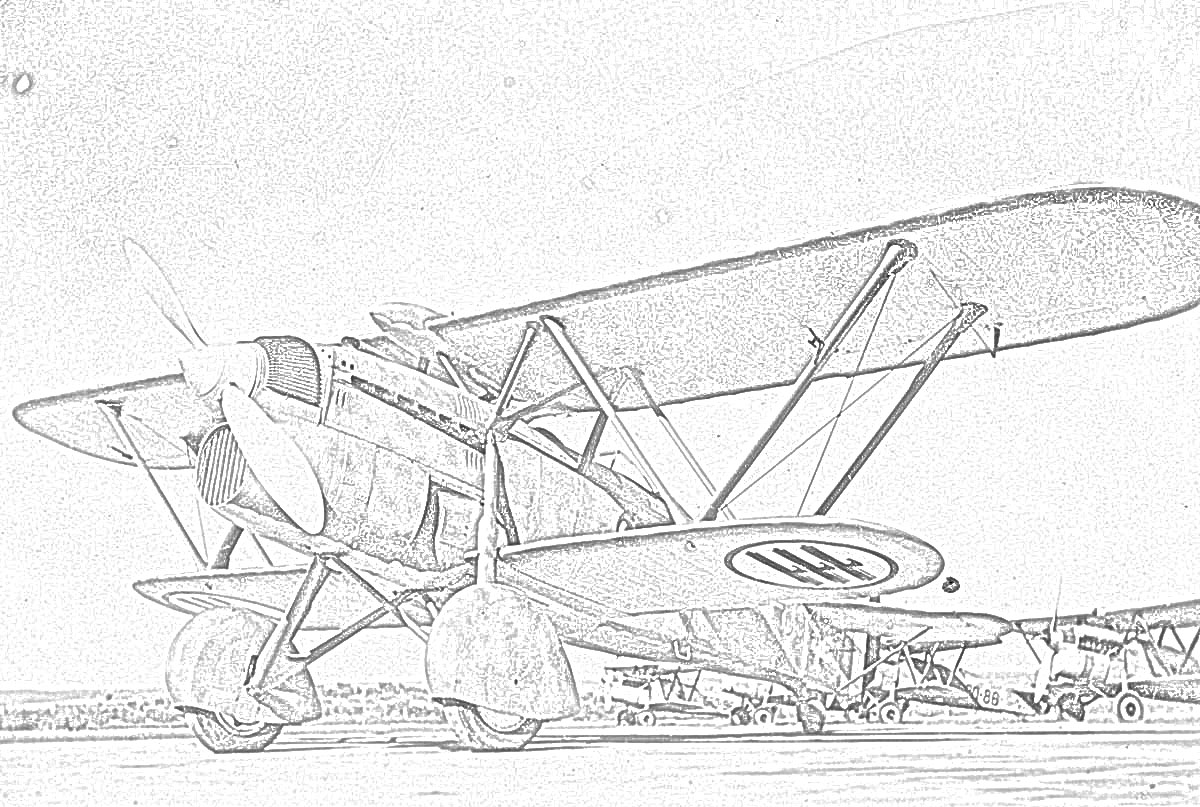 Coloring Page World War II Fighter Worldwartwofilminspector